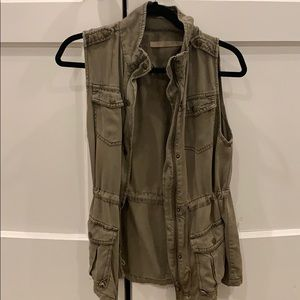 Max jeans olive green Utility vest